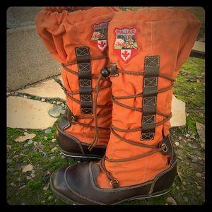 Pajar sz 39 / 9 Orange winter grip boots